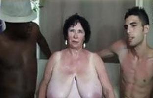 Fette alte Brüste